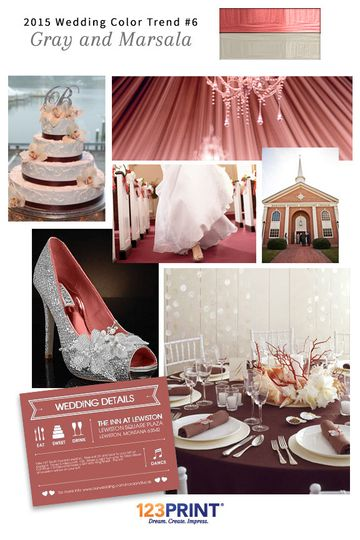 123print gray and marsala wedding ideas