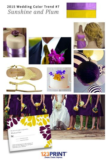 123print sunshine and plum wedding ideas