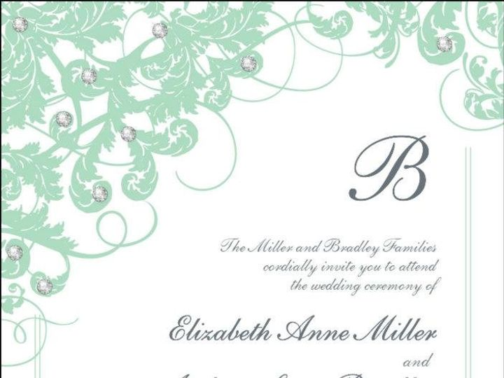 Tmx 1350492238377 SensationalSeafoamCeremony Dallas wedding invitation