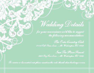 Tmx 1363013477416 123PrintWeddingEnclosureCardsSensationalSeafoamCeremony Dallas wedding invitation