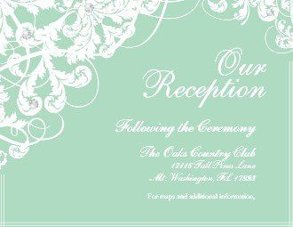 Tmx 1363789210799 123PrintWeddingReceptionCardsSensationalSeafoamCeremony Dallas wedding invitation