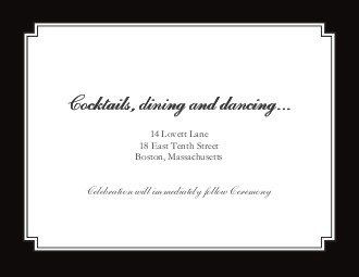 Tmx 1363789211630 123PrintWeddingReceptionCardsTimelessElegance Dallas wedding invitation