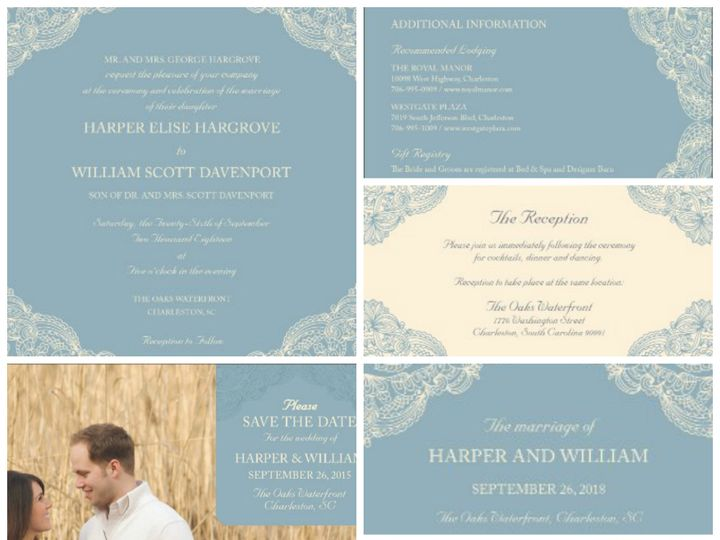 Tmx 1394484101297 Glamorous Wedding   Laced With Lov Dallas wedding invitation
