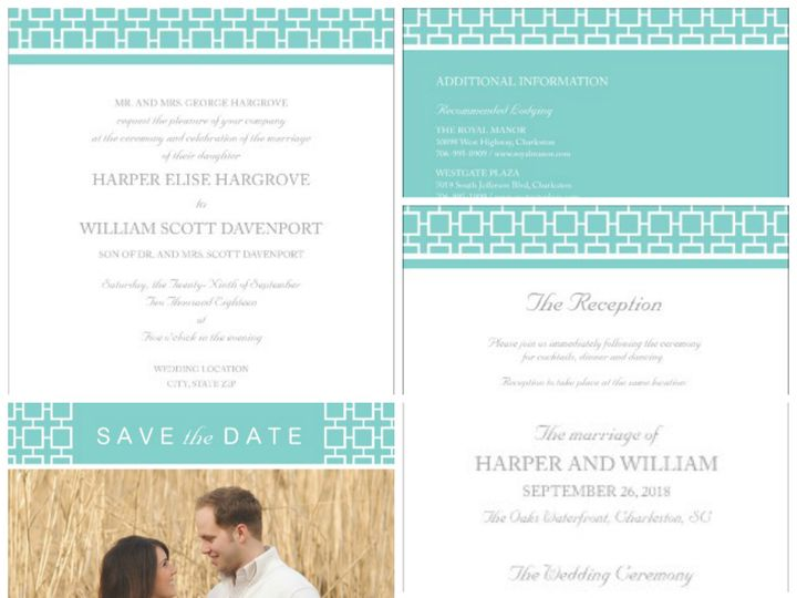 Tmx 1394484127019 Modern Wedding   Mosaic Lov Dallas wedding invitation