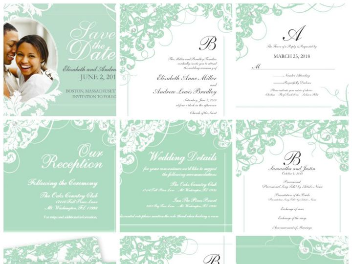 Tmx 1394484168937 Classic Wedding   Sensational Seafoam Ceremon Dallas wedding invitation