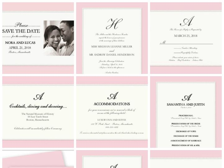 Tmx 1394484237312 Glamorous Wedding   Pretty In Pearl Dallas wedding invitation