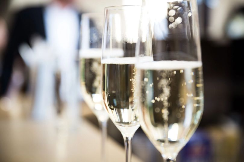 Champagne flutes toast