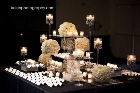 escort card table black and white wedding decor 34