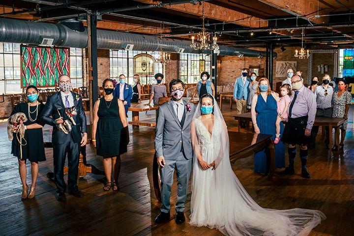 Socially distant wedding