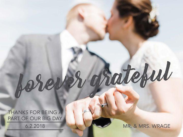 Tmx Wrage Wedding Thank Yous Final Page 1 51 1054713 Independence, IA wedding invitation