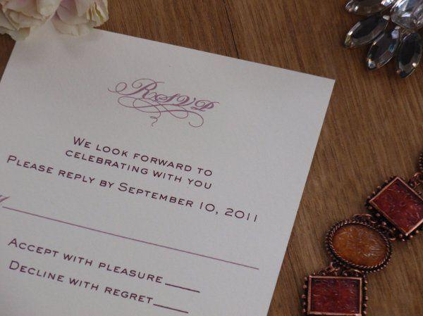 Tmx 1327511650307 RikkiRSVPCloseText Brooklyn wedding invitation