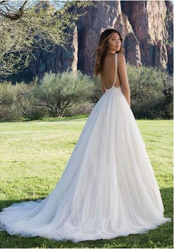 Deep low back wedding dress