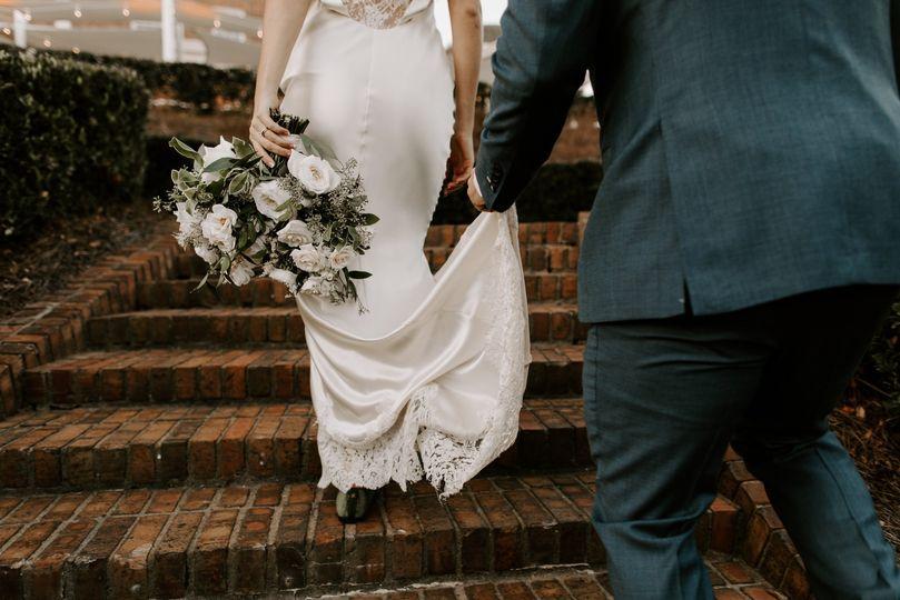 Wedding attire close-up