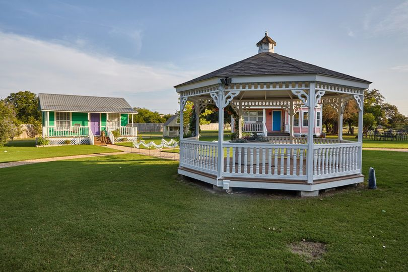 The gazebo and grounds