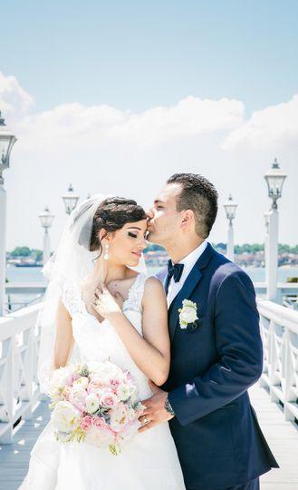 A bright wedding portrait