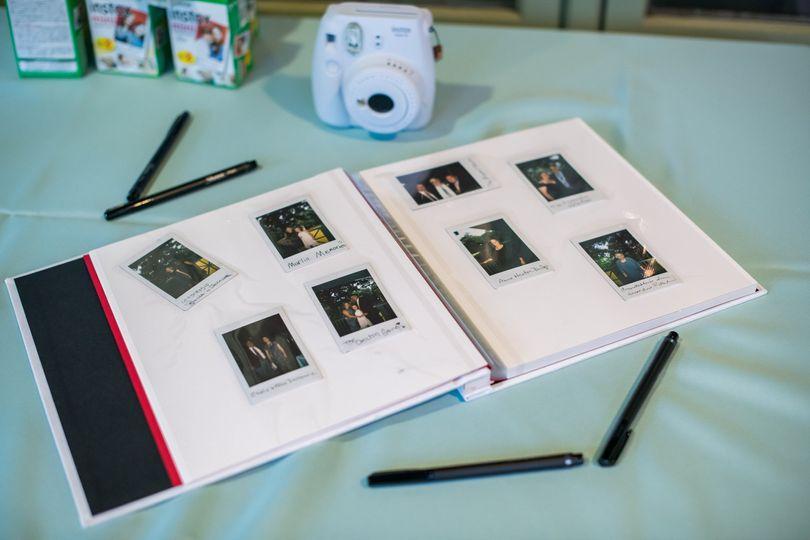 Polaroid guest list
