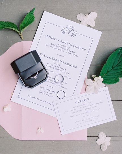 Wedding stationery (Paul and Ashley)