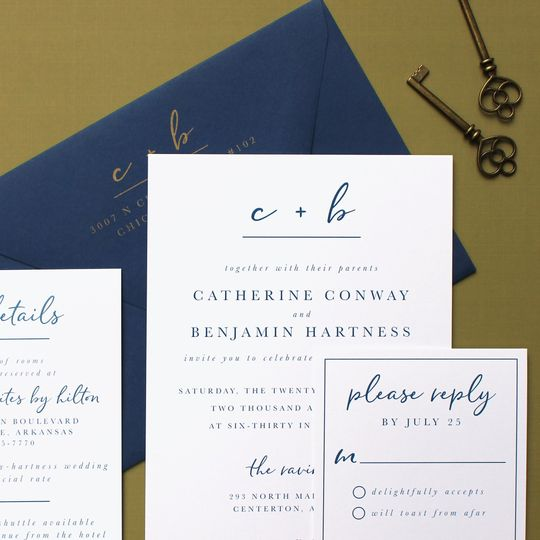 Elegant lettering (Catherine and Ben)