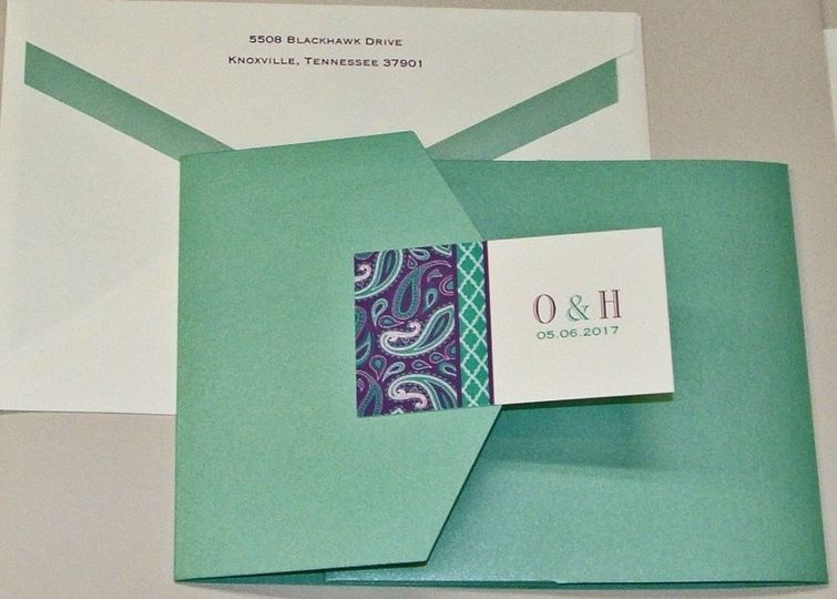 Mint green invitation