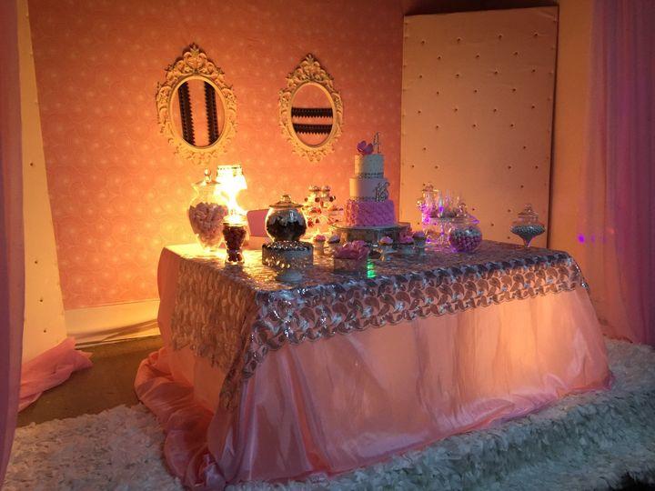 Wedding cake set-up