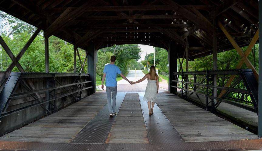 Couple walking hand-in-hand