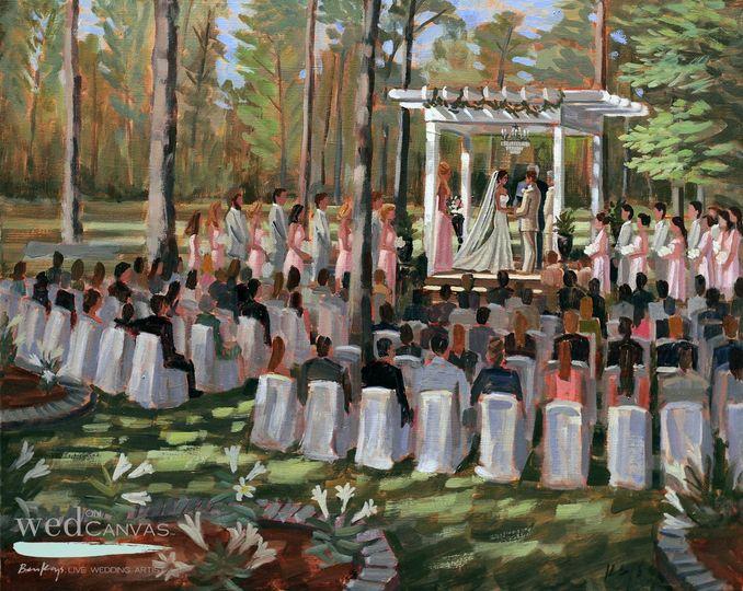 katherine and corey 24x30 wed on canvas live weddi
