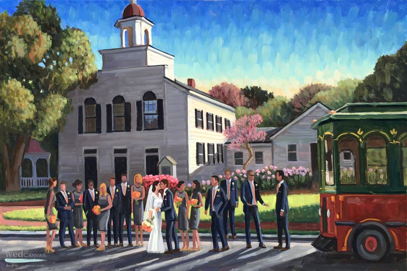 wentworth by the sea live wedding painting wed on