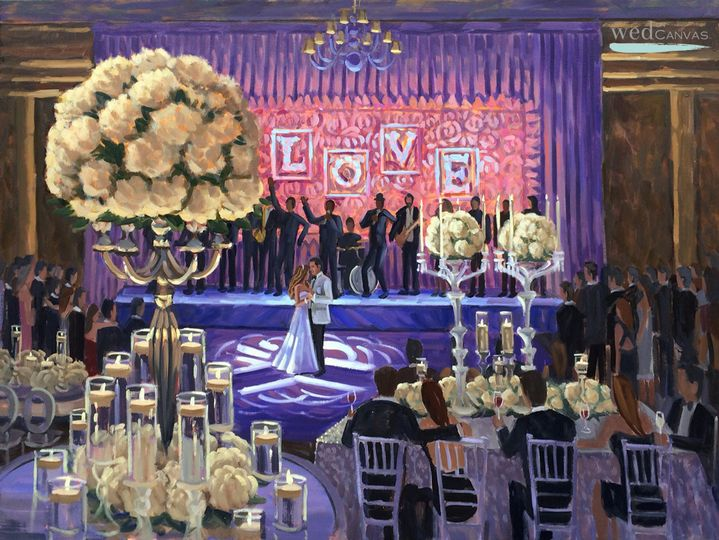 wed on canvas the breakers live wedding painting s