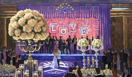 Wed on Canvas, Live Wedding Artist Ben Keys