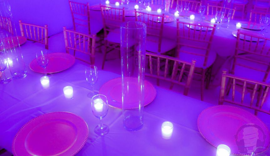 Candle decors on the table
