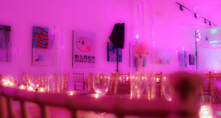 Pink indoor lights