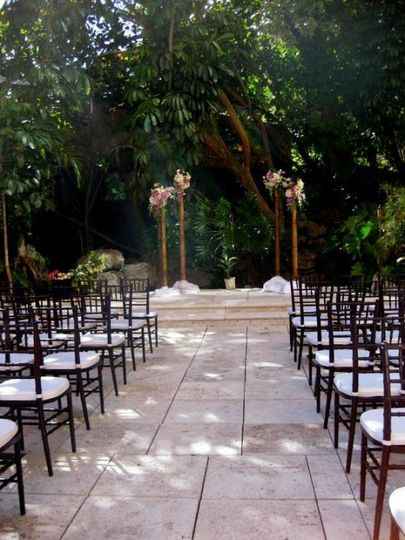 Ceremony Set Up at the Mutiny Hotel, Outdoor space