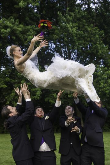 This bride was brave, to say the least! it was an image she wanted, so we made it happen.