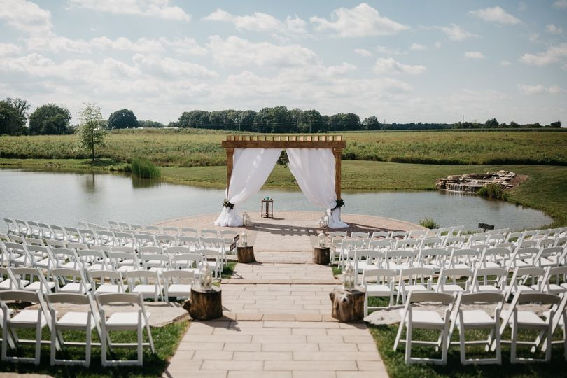 A classic outdoor ceremony