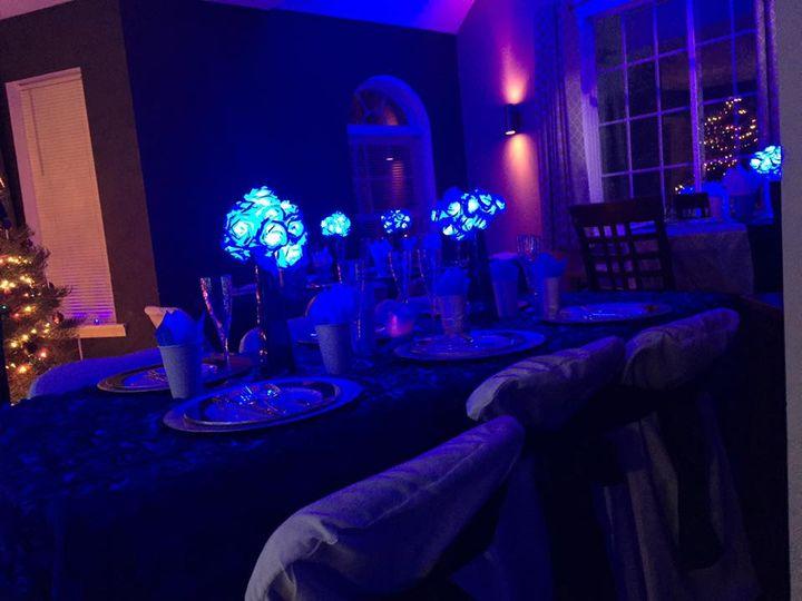 Illuminated floral centerpieces