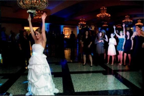 Tossing of bouquet