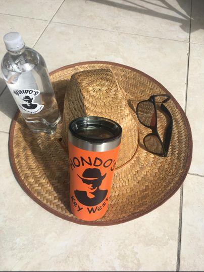Personalized mug and sunglasses