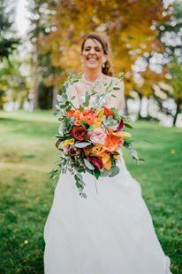 Romantic garden theme outdoor wedding.