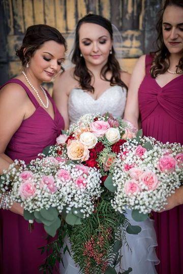 Romantic and Vintage garden rose wedding