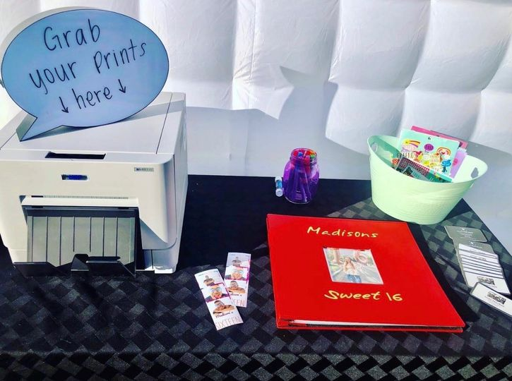 Scrapbook table and printer