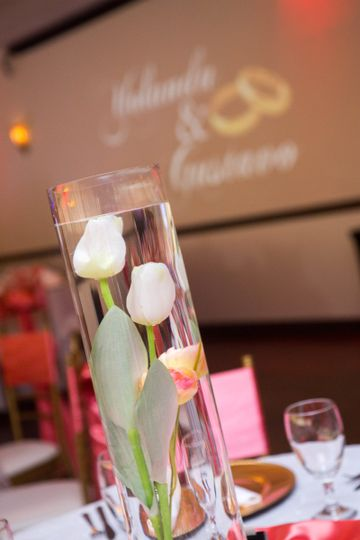 The floral centerpiece