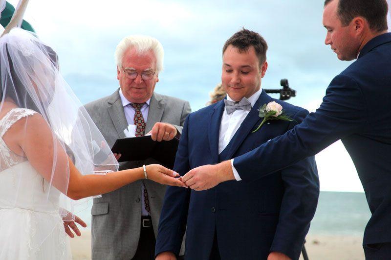 The ceremony . .
