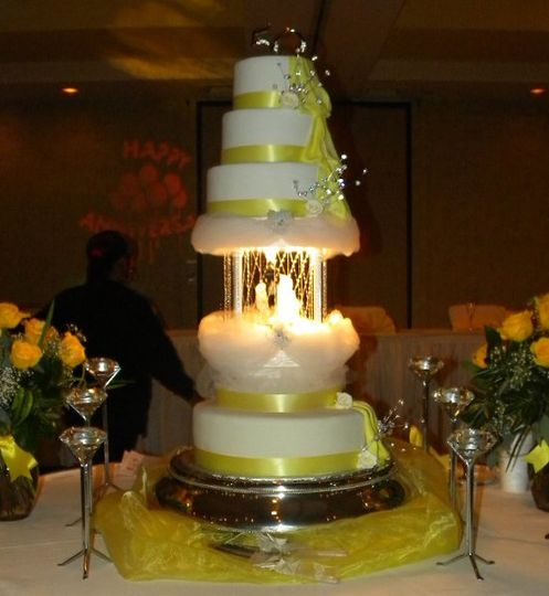Fountain Cakes For Weddings