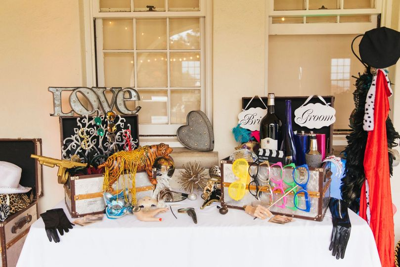 Photo Booth Costume Table