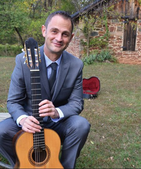 Christopher Wyton and his guitar