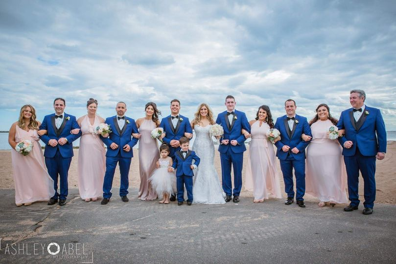 Bridal party lighthouse point
