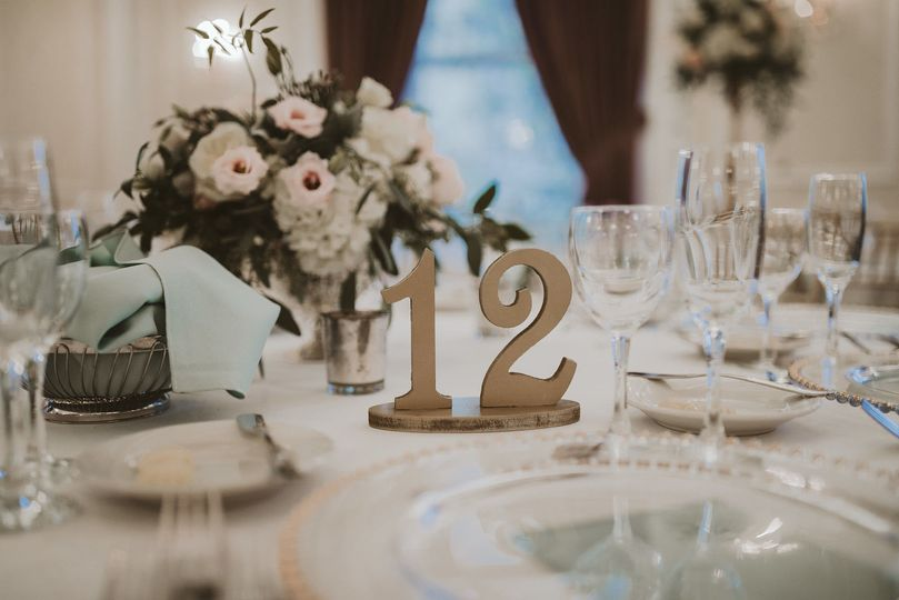 Table number | Photo by Hot Metal Studio