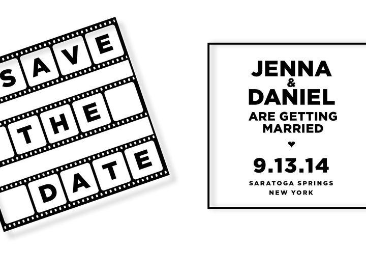 Tmx 1396636647367 Save The Datefilm Stri Jersey City wedding invitation