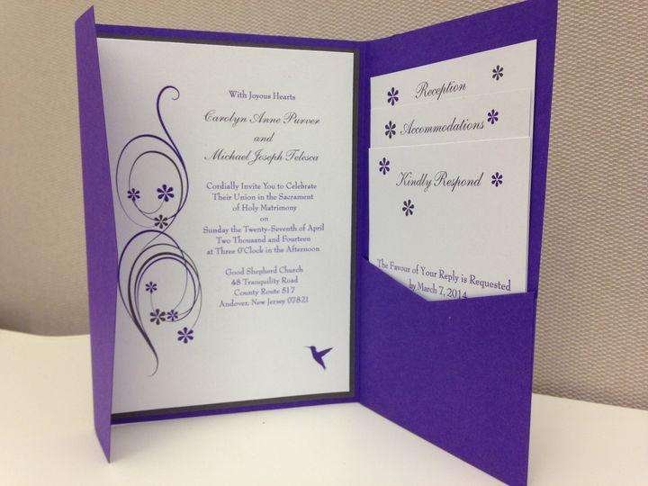 Tmx 1396636677187 Carolyns Invitatio Jersey City wedding invitation