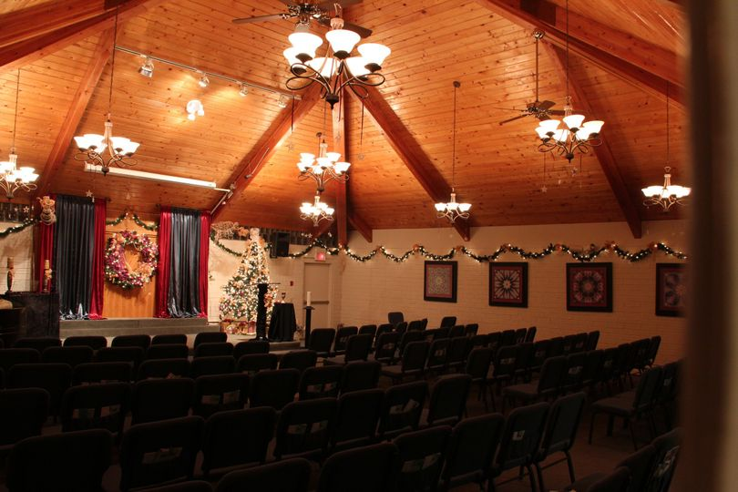 Our Sanctuary can seat up to 150 people.